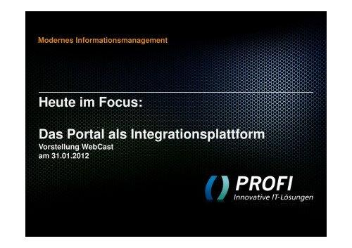 Portal - PROFI Engineering Systems AG