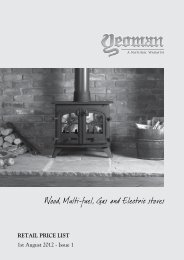 RETAIL PRICE LIST 1st August 2012 - Issue 1 - Cambridge Stoves