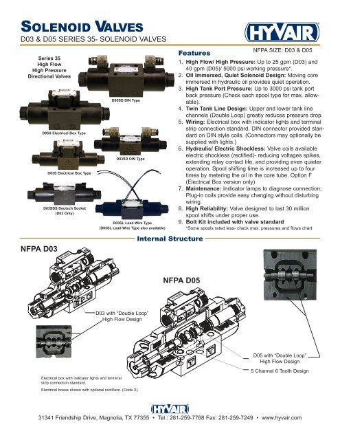 solenoid valves d03 amp d05 hyvair solenoid valves d03 & d05 hyvair