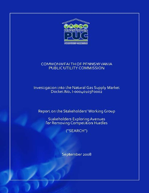Report - Pennsylvania Public Utility Commission