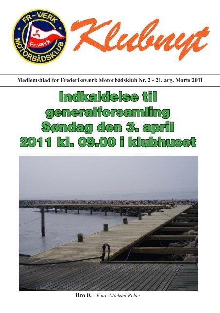 Klubbladet marts 2011 - Frederiksværks Motorbådsklub