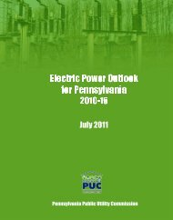 Electric Power Outlook - Pennsylvania Public Utility Commission