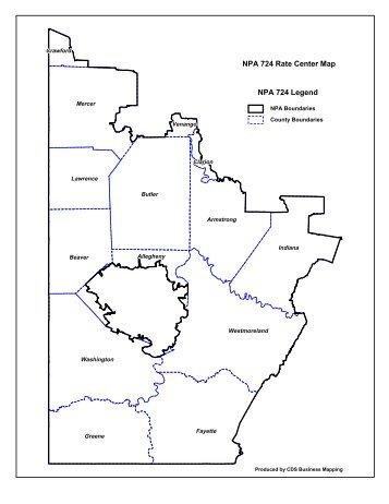 Area Code Map - 814 area code