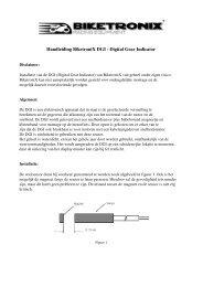 BikeTronix DGI Manual