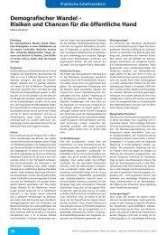 Demografischer Wandel - Risiken und Chancen für die öffentliche ...