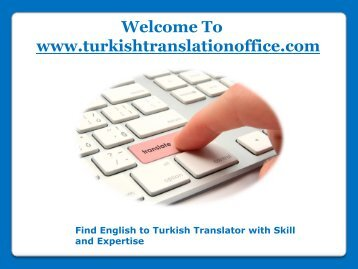 Find Skillful English to Turkish Translator