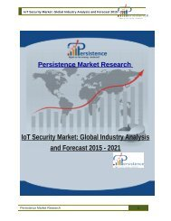 IoT Security Market: Global Industry Analysis and Forecast 2015 - 2021