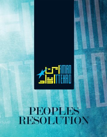 PEOPLES RESOLUTION