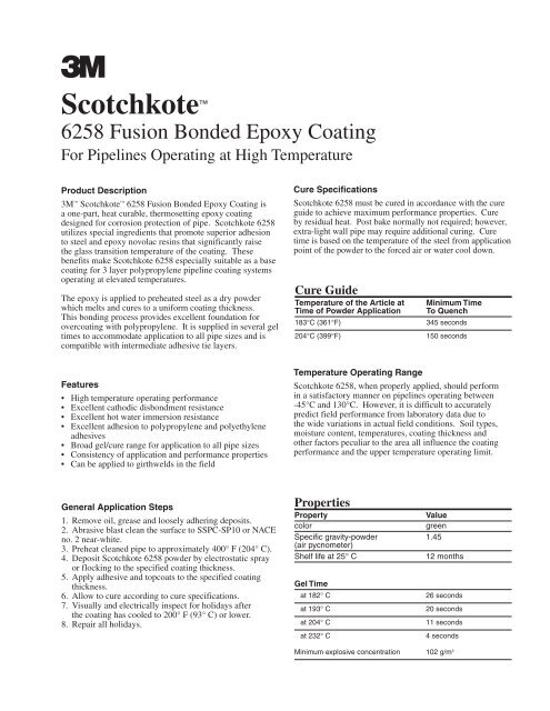 3M #6258 Fusion Bond Epoxy Coating - Bay Port Valve & Fitting