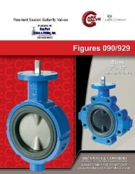 Series 090 (wafer) and 929 (lug) Brochure - Bay Port Valve & Fitting