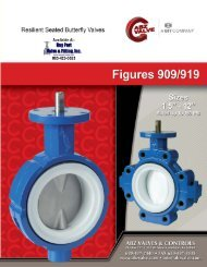 Series 909 (wafer) and 919 (lug) Brochure - Bay Port Valve & Fitting