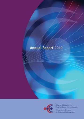 Annual Report 2010 - Office of the Director of Corporate Enforcement