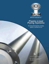 Baum Lined Pipe & Fittings Brochure - Bay Port Valve & Fitting