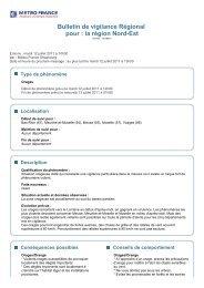Bulletin de vigilance Régional pour : la région Nord-Est