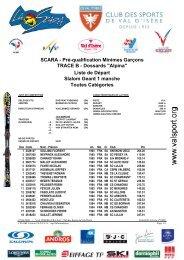 FFSSKI - Liste de Départ - Club des Sports de Val d'Isère
