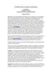 ECRR Risk Model and radiation from Fukushima - European ...