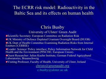 Radioactivity in the Baltic Sea and its - European Committee on ...