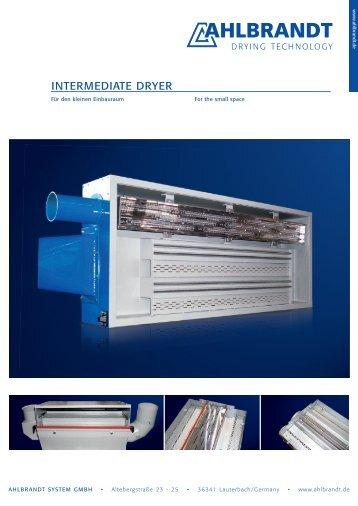 INTERMEDIATE DRYER - Ahlbrandt System GmbH