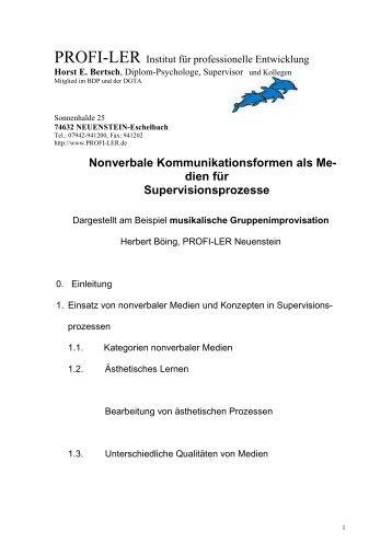 dien für Supervisionsprozesse - Horst Bertsch