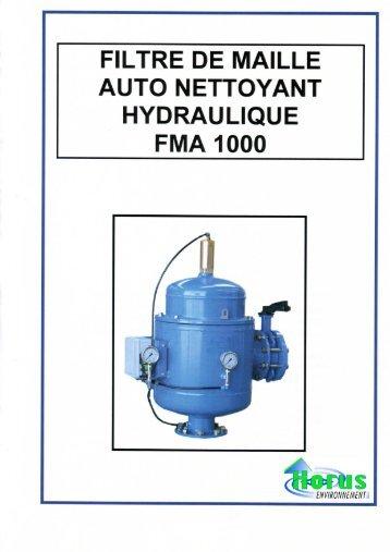 Filtres à tamis autonettoyant FMA1000 - Horus Environnement