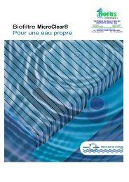 Biofiltre MicroClear® Pour une eau propre - Horus Environnement