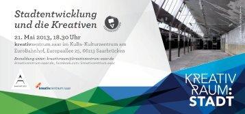Stadtentwicklung und die Kreativen am 21 Mai 2013