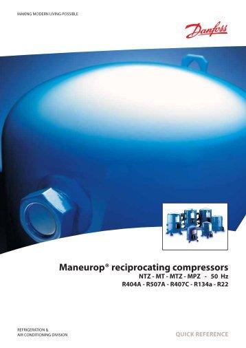 Maneurop® reciprocating compressors