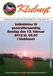 Klubblad Januar 2012 - Frederiksværks Motorbådsklub