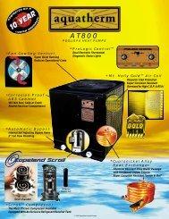 Aquatherm AT800-A Pool Spa Heat Pump Brochure - Solar Direct
