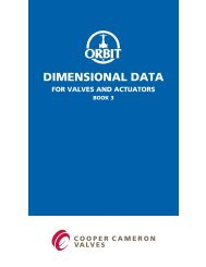 Orbit Dimensional Data Catalog - Bay Port Valve & Fitting