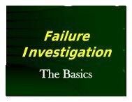 Failures Vs. Incidents