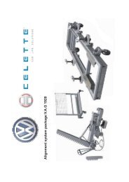 Alignment system package V .A.G 1920 : - Carbesa AG
