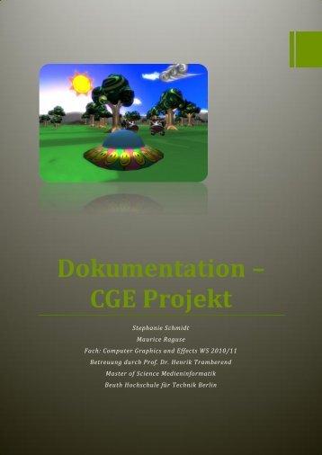 CGE Projekt - Prof. Dr. Henrik Tramberend - Beuth Hochschule für ...