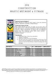 284 CONSTRUCTION MASTIC BÂTIMENT & VITRAGE