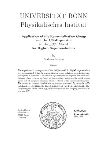 UNIVERSIT . . AT BONN Physikalisches Institut