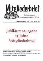 Ausgabe 262 - Juni / Juli 2015