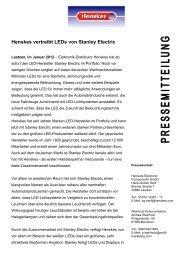 Henskes vertreibt LEDs von Stanley Electric - Profil Marketing