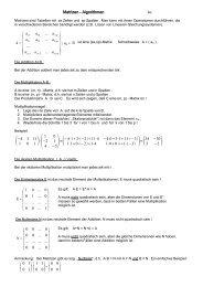 Matrizen - Algorithmen - K-achilles.de