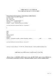 smlouva o dílo - Střední odborná škola logistická a střední odborné ...