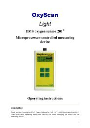 OxyScan Light - UMS GmbH and Co. KG