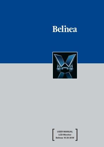 USER MANUAL LCD-Monitor Belinea 10 20 30 W - ECT GmbH