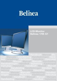LCD-Monitor Belinea 1705 G1 Handbuch Manual Ma ... - ECT GmbH