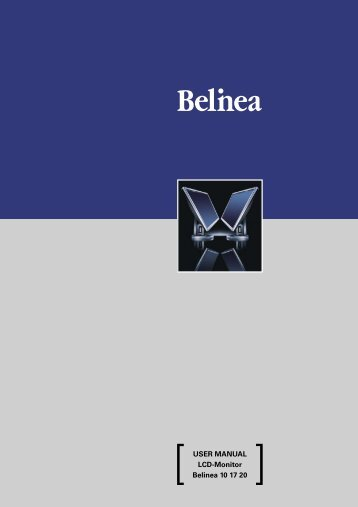 USER MANUAL LCDtMonitor Belinea 10 17 20 - ECT GmbH