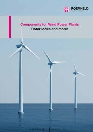 Components for Wind Power Plants - Rotorlock