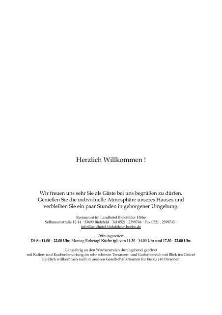 Herzlich Willkommen ! - Landhotel Bielefelder Höhe