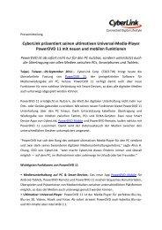 Media-‐Player PowerDVD 11 mit neuen und ... - Profil Marketing