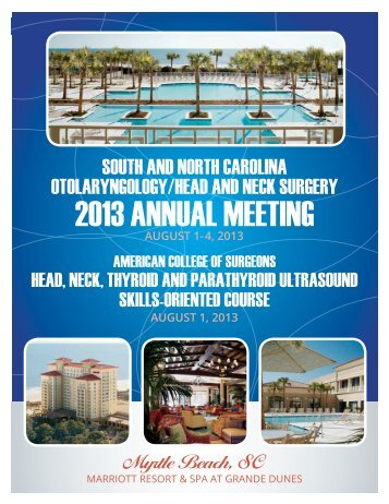 2013 ANNUAL MEETING - North Carolina Medical Society
