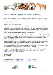 Invitation til TCM workshop - Dansk Biotek