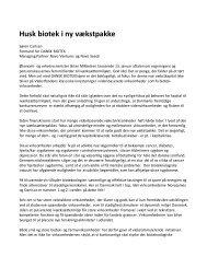 Indlæg i Børsen 4.2.2011 - Dansk Biotek