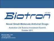 Biotron - Ausbiotech 2011 National Conference